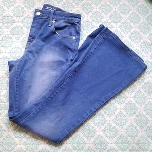 Mossimo HiRise Blue Flare Bell bottoms size 4short